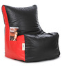 Classic Bean Chair XXL Filled with Beans in Black & Red Colour by Can