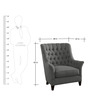 Classic Chair with Button Tufted Back in Grey Colour by Afydecor