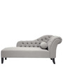 Classic RHS Chaise with Tufted Curved Arms in Grey Colour by Afydecor