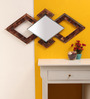 The Frame Address Brown Solid Wood & Copper Contemporary Craft Mirror Wall Art