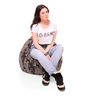 Classic Cotton Canvas Camouflage Design Bean Bag XL Size Cover Only by Style Homez