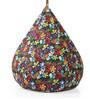Classic Cotton Canvas Floral Design Bean Bag XXL Size with Beans by Style Homez