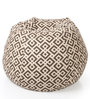Classic Cotton Canvas Geometric Design Bean Bag XXL Size Cover by Style Homez