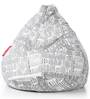Classic Cotton Canvas Newspaper Design Bean Bag XXL Size with Beans by Style Homez