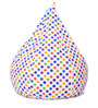 Classic Cotton Canvas Polka Dots Design Bean Bag XL Size Cover Only by Style Homez