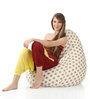 Classic Cotton Canvas Polka Dots Design Bean Bag XXL Size Cover Only by Style Homez