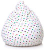 Classic Cotton Canvas Star Design Bean Bag XL Size with Beans by Style Homez