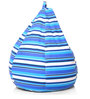 Classic Cotton Canvas Striped Bean Bag XL Size Cover Only by Style Homez