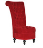 Classic Ottoman Inspired Tall Back Accent Chair in Red Color by Afydecor