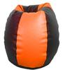 Classic Style Bean Bag  with Beans in Orange N Black Colour by Sattva