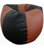 Classic Style Bean Bag Cover in Black N Tan Colour by Orka