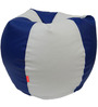 Classic Style Bean Bag Cover in Blue White Colour by Orka
