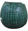 Matrix Theme Bean Bag Cover in Black & Green Colour by Orka