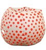 Polka Dot Theme Bean Bag Cover in Red & White Colour by Orka