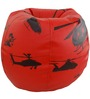 Helicopter Theme Bean Bag Cover in Black & Red Colour by Orka