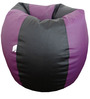 Classic Style Bean Bag Cover in Purple N Black Colour by Orka