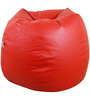 Classic Style Bean Bag Cover in Red Colour by Orka