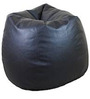 Classic Style Bean Bag with Beans in Black Colour by Sattva