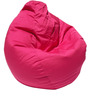 Classic Style Bean Bag with Beans in Pink Colour by Sattva