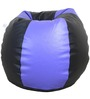 Classic Style Filled Bean Bag in Blue Black Colour by Orka