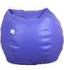 Classic Style Filled Bean Bag in Blue Colour by Orka