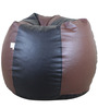 Classic Style Filled Bean Bag in Brown N Black Colour by Orka