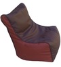 Classic Style Lounger Bean Bag in Brown N Tan Colour by Orka