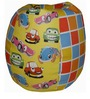 Toon Car Theme Filled Bean Bag in Multi Colour by Orka