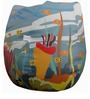 Underwater Theme Filled Bean Bag in Multi Colour by Orka