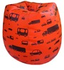 Urban Highway Theme Filled Bean Bag in Multi Colour by Orka