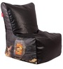 Dhoom 3 Theme Filled Bean Bag Chair in Multi Colour by Orka
