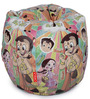 Chota Bheem Filled Bean Bag in Multi Colour by Orka
