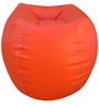 Classic Style Filled Bean Bag in Orange Colour by Orka