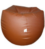 Classic Style Filled Bean Bag in Tan Colour by Orka