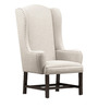 Classic Tall Back Wing Chair in Ivory Color by Afydecor
