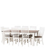 Classic Two Tone Eight Seater Dining Set with Slat back Chairs by Afydecor