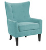 Classic Wing Back Accent Chair in Blue Color by Afydecor