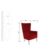 Classic Wingback Accent Chair with Tight Back & Seat in Red Colour by AfyDecor