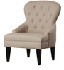 Classic Accent Chair with Button Tufts & Sturdy Legs in Brown Color by Afydecor