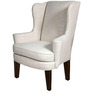 Classic Wing Back Chair with Traditional Arms in White Color by Afydecor