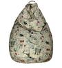 Classic  Bean Bag Cover without Beans with Stamps Print by Sattva
