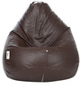 Classic XL Bean Bag Filled with Beans in Brown Colour by Can