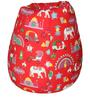Classic Bean Bag with Beans in Red Indian Colour by Sattva