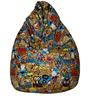 Classic Bean Bag with Beans with Yellow Cartoon Print by Sattva