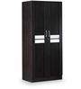 Classy Two Door Wardrobe in Wenge & Silver Grey Matte Finish by Debono