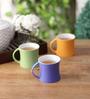 Clay Craft Multicolor Bone China 250 ML Tea Cup - Set of 6