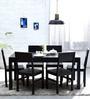 Clio Six Seater Dining Set in Espresso Walnut Finish by Woodsworth