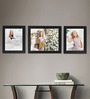 Clixicle Black Synthetic Wood & Acrylic 38 x 1 x 12 Inch Large Wall Decor 3-piece Collage Photo Frame
