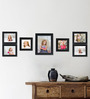 Clixicle Black Synthetic Wood & Acrylic 38 x 1 x 12 Inch Wall Decor 7-piece Collage Photo Frame