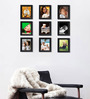 Clixicle Black Synthetic Wood Collage Photo Frame-Set of 9